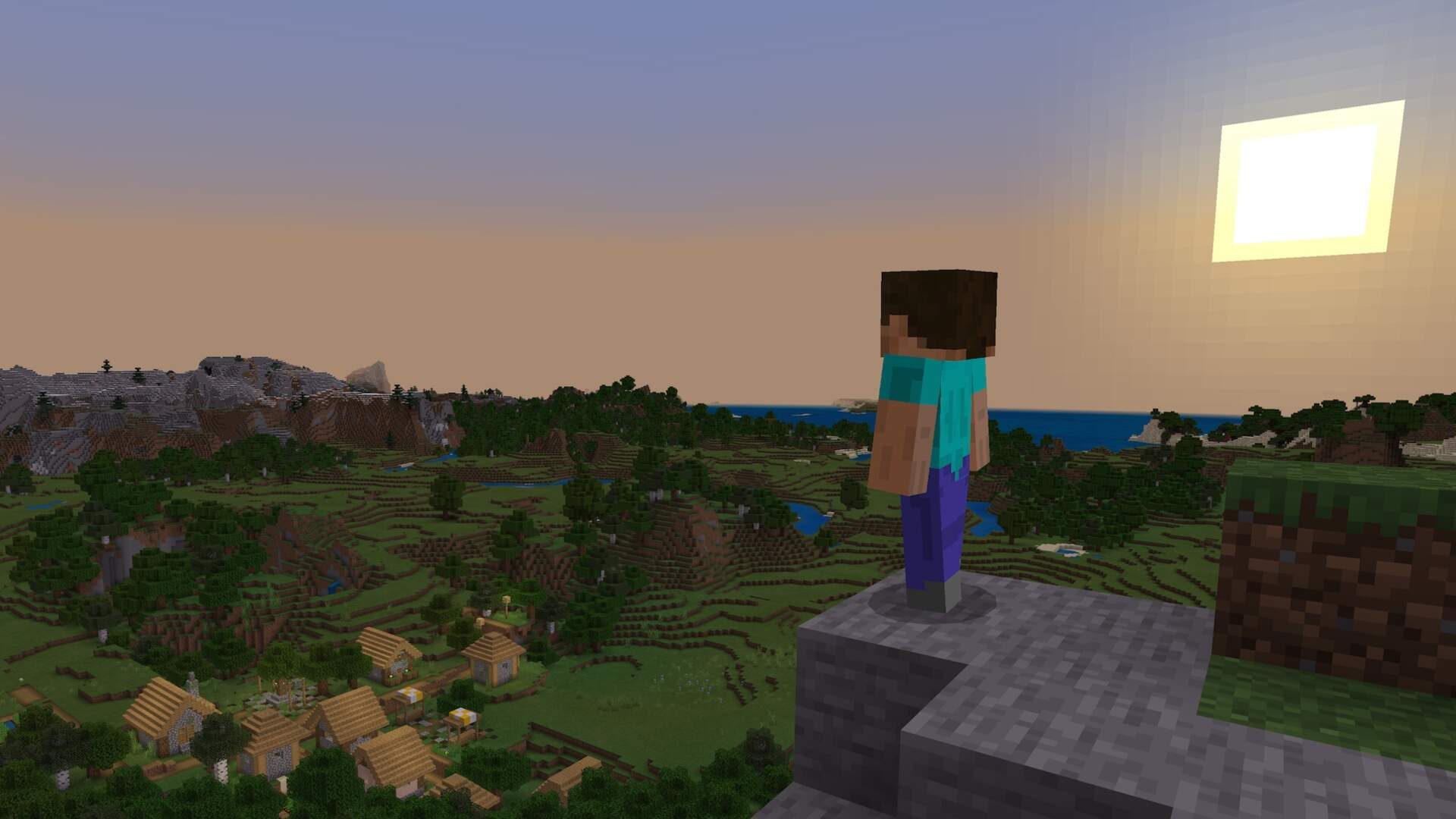 Minecraft Players Unearth the Exact Seed for Its Menu Screen World