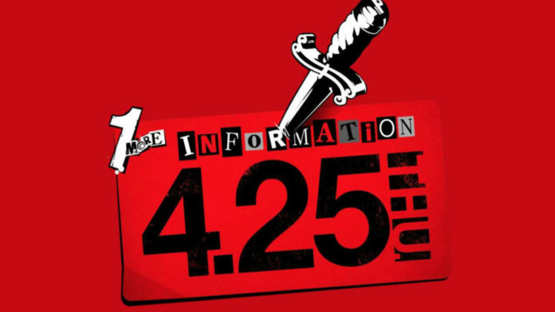 Persona 5 'P5S' Announcement Teased for April 25
