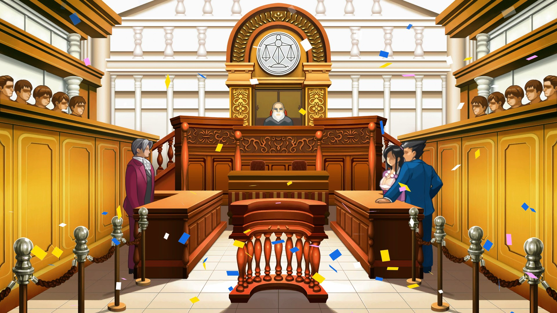Image result for phoenix wright ace attorney courtroom