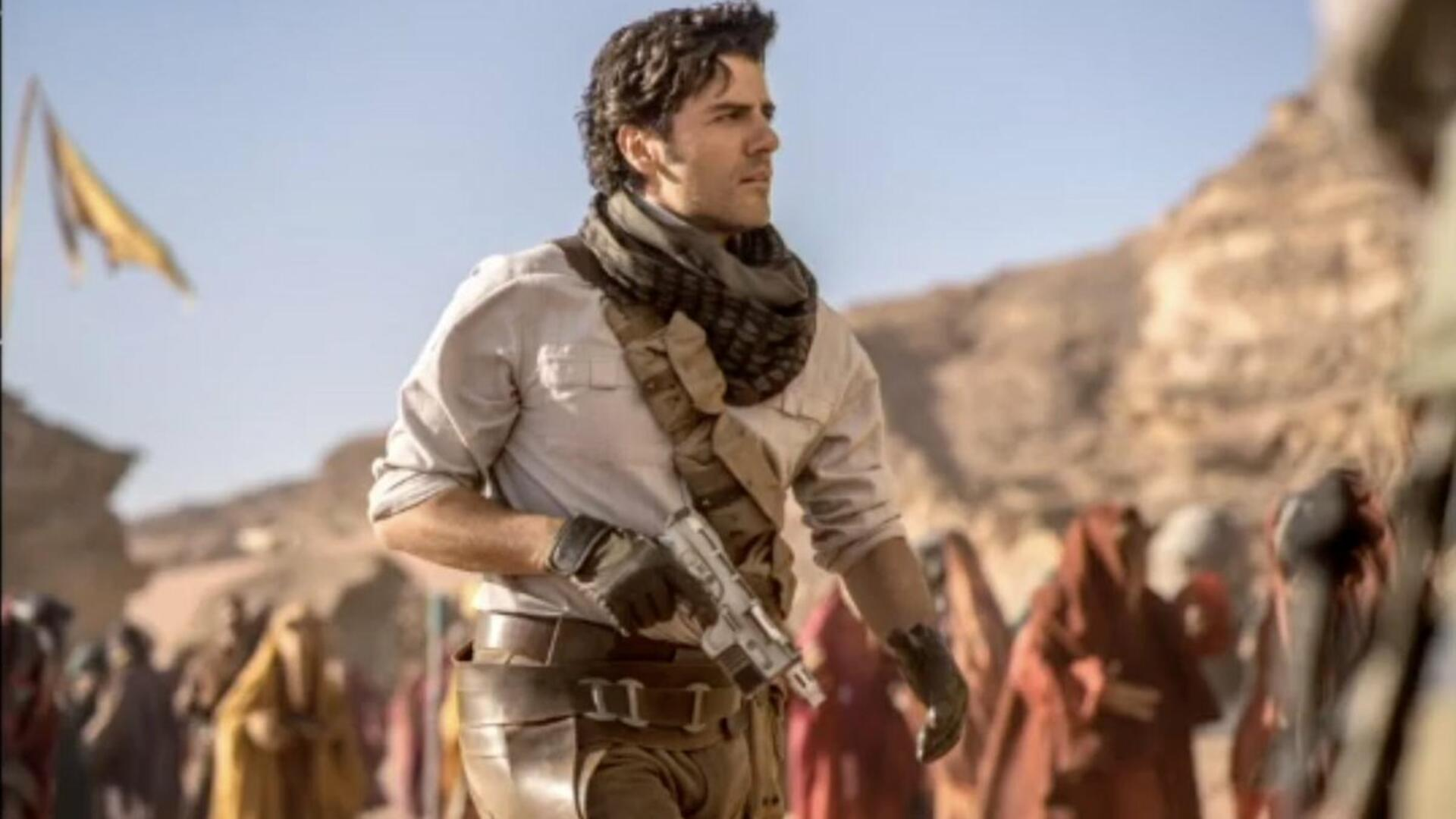 Poe Dameron In Star Wars Episode 9 Looks Just Like Nathan Drake
