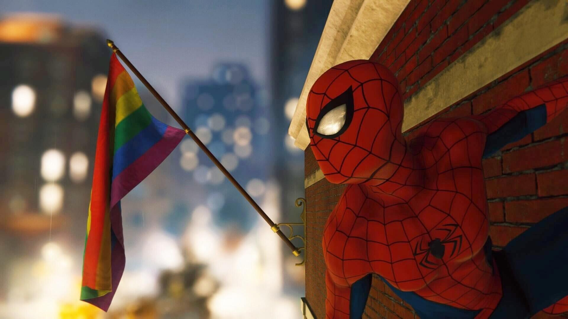 The Pride Flag in Marvel's Spider-Man is a Small Gesture That's Made a Large Impact