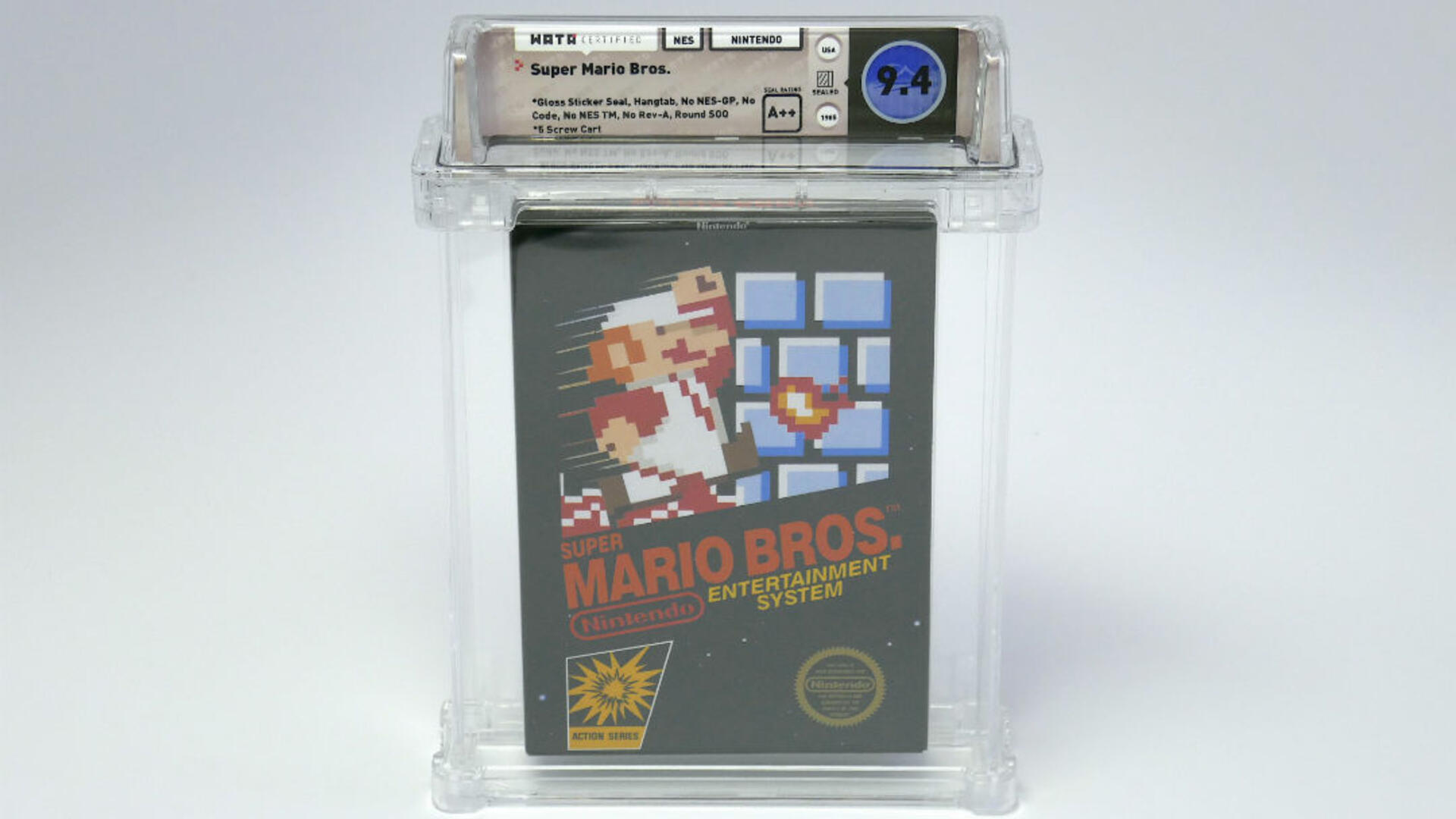 Mint Sealed Copy of Super Mario Bros. Sells for More Than $100,000 at Auction