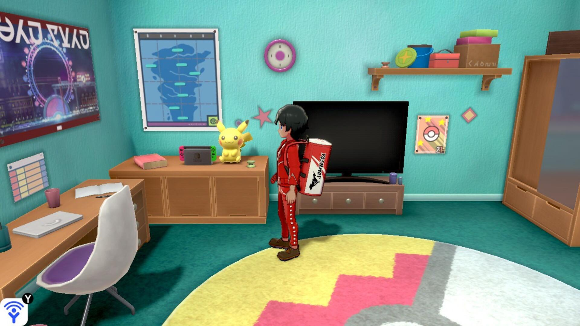 You Should Look Closely at the Switch in Pokemon Sword and Shield's First Room