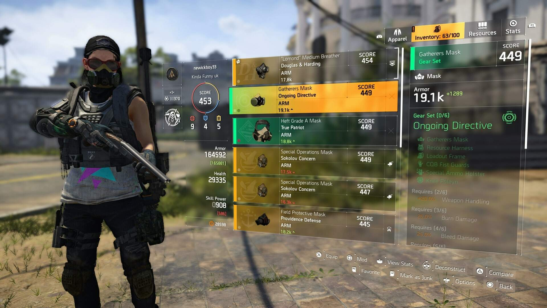 The Division 2 Hard Wired Hard Wired Tech Hard Wired Gear Set True Patriot Stats Usgamer