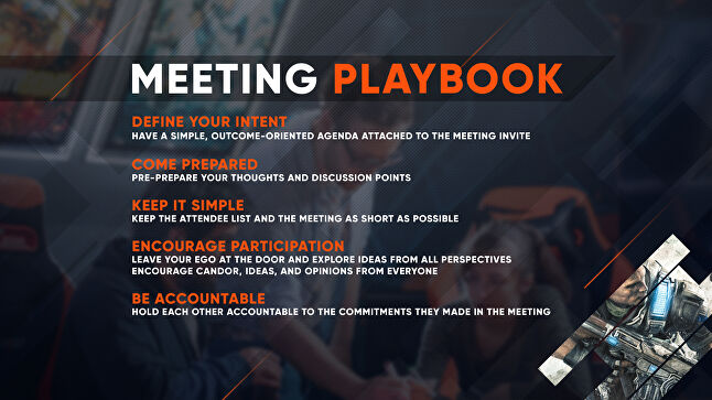 Splash Damage's meeting playbook