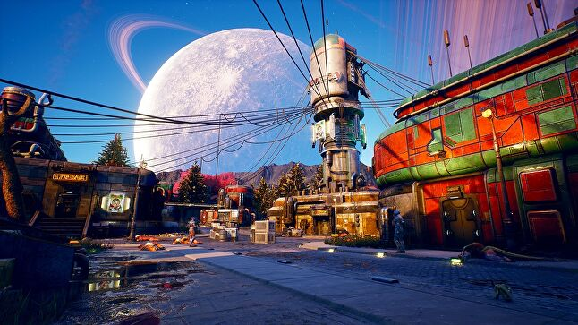 Outer Worlds tries to evoke a frontier feel for many of its settings