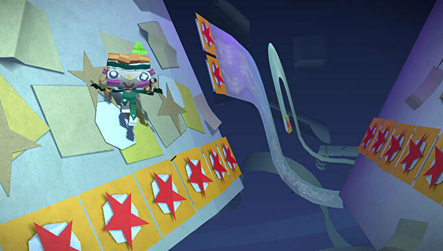 A screen from Tearaway on the PlayStation Vita