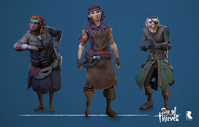 Sea of Thieves' character art by Hendrik Coppens