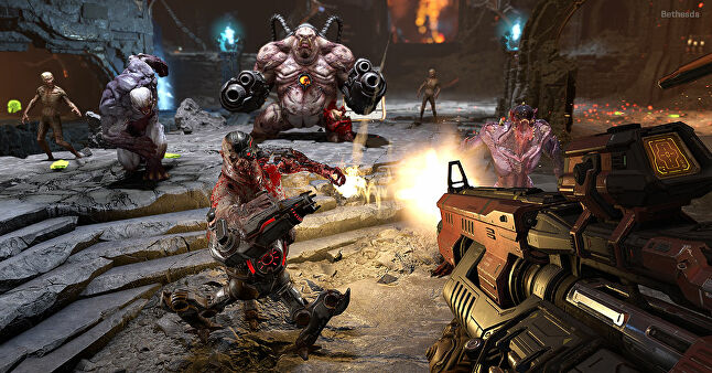 Combat in Doom is an addictive combination of firepower, strategic choices and unrelenting motion