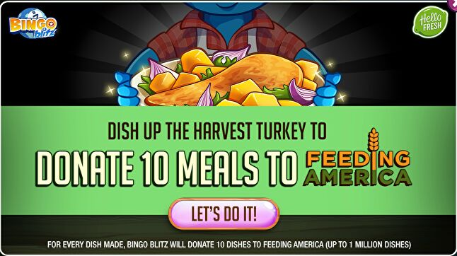 $1 helps to provide at least ten meals secured by Feeding America on behalf of local member food banks