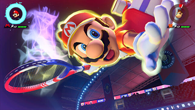 Global tennis stars will compete in a Mario Tennis Aces tournament in the charity Stay at Home Slam