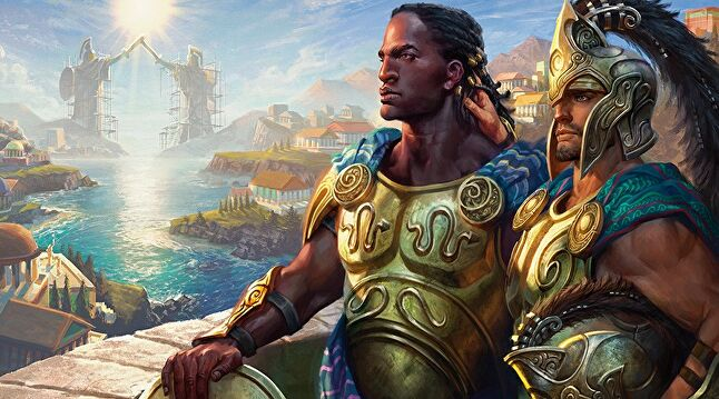 Kynaios and Tiro of Meletis were the first biracial gay couple featured on a Magic the Gathering card