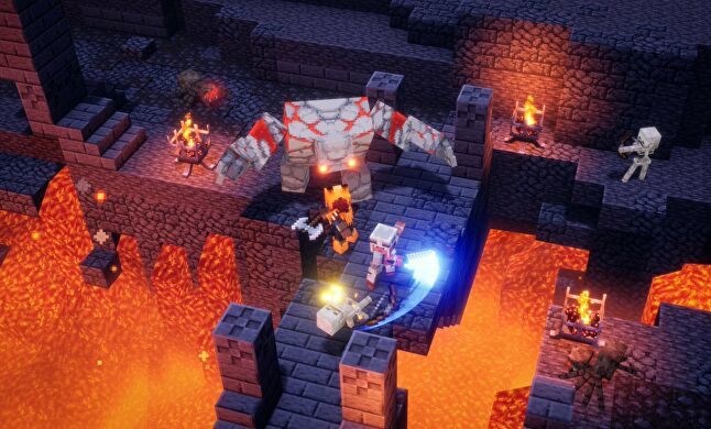 Minecraft Dungeons' gameplay is satisfying in the moment, but some critics questioned its longevity
