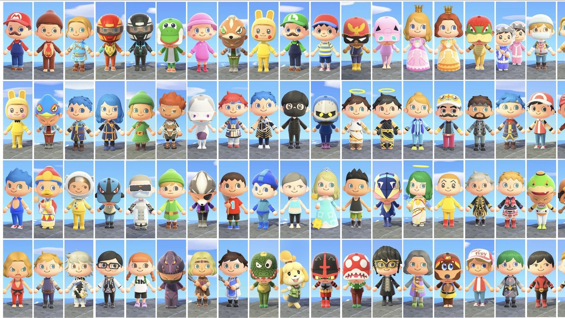 Someone Created The Entire Smash Bros Roster In Animal Crossing New Horizons Eurogamer Net