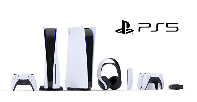 The PlayStation 5 Digital Edition (left) and the standard PlayStation 5