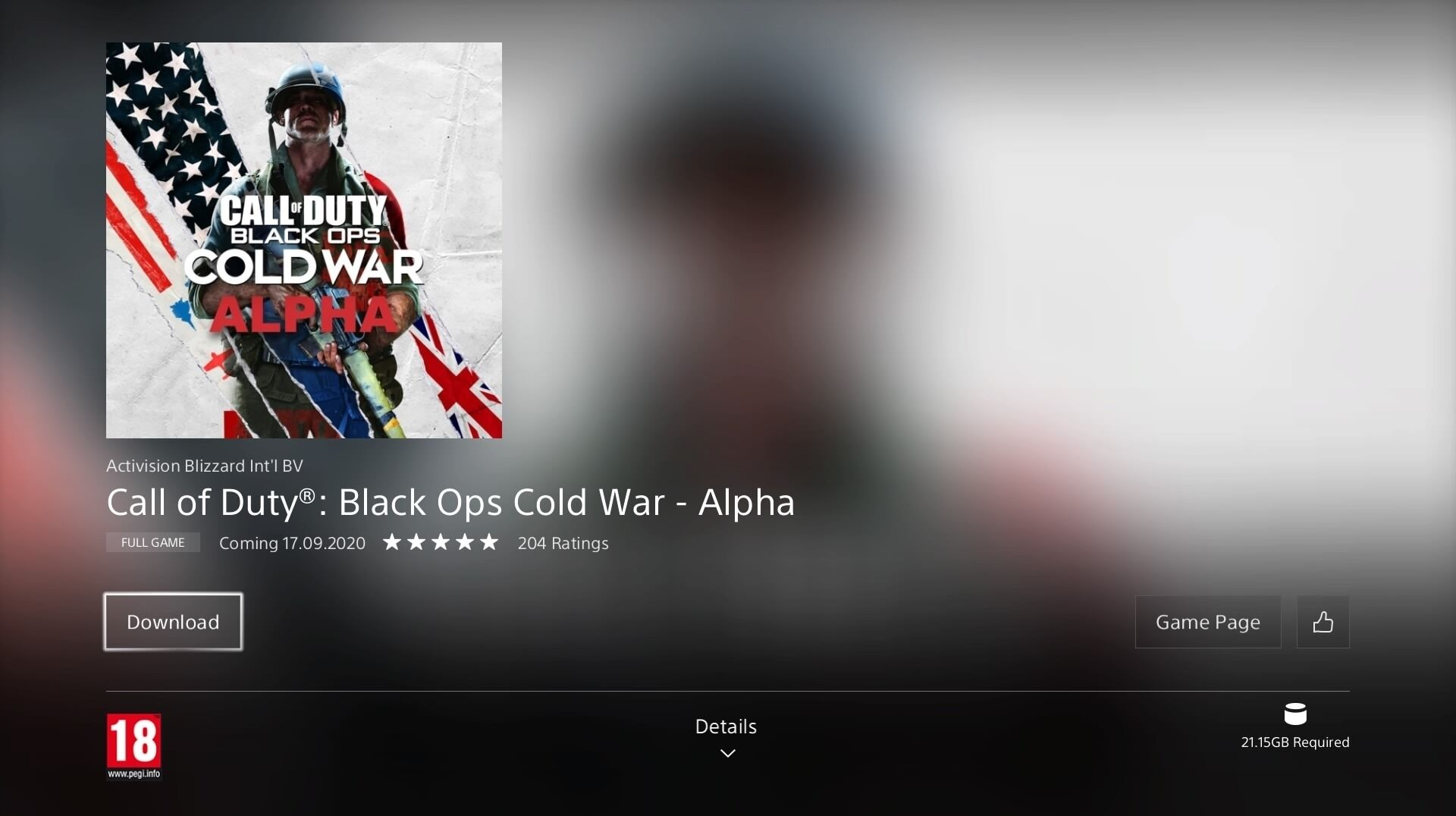 You Can Pre Download The Call Of Duty Black Ops Cold War Alpha On Ps4 Now Eurogamer Net