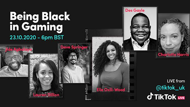 TikTok will present a panel on Black representation in the UK games industry tomorrow as part of Black History Month