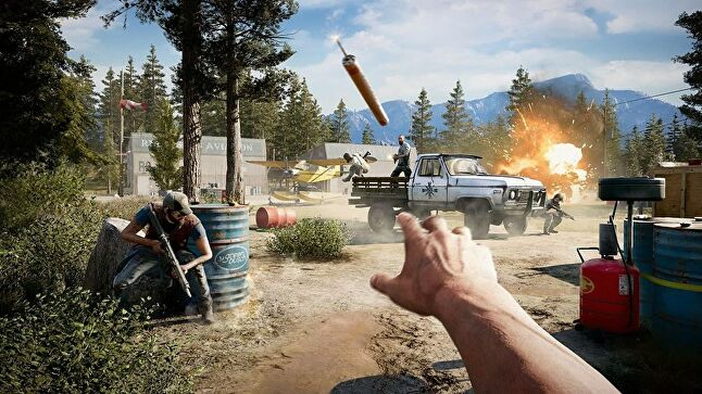 NPCs in Far Cry have to react to players' actions, the environment, fire, wild animals and more - all in real time