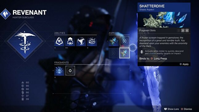Even after 120+ hours, I've barely scratched the surface of unlocking 2x4 Aspects and 2x14 Fragments to further tweak Stasis to my preferred playstyle