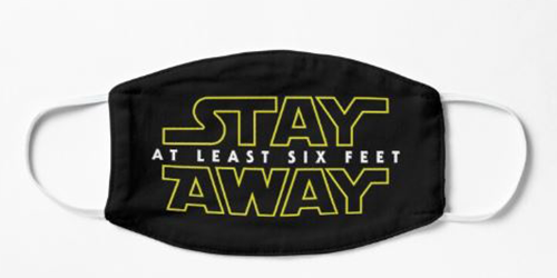 Star Wars stay away face mask