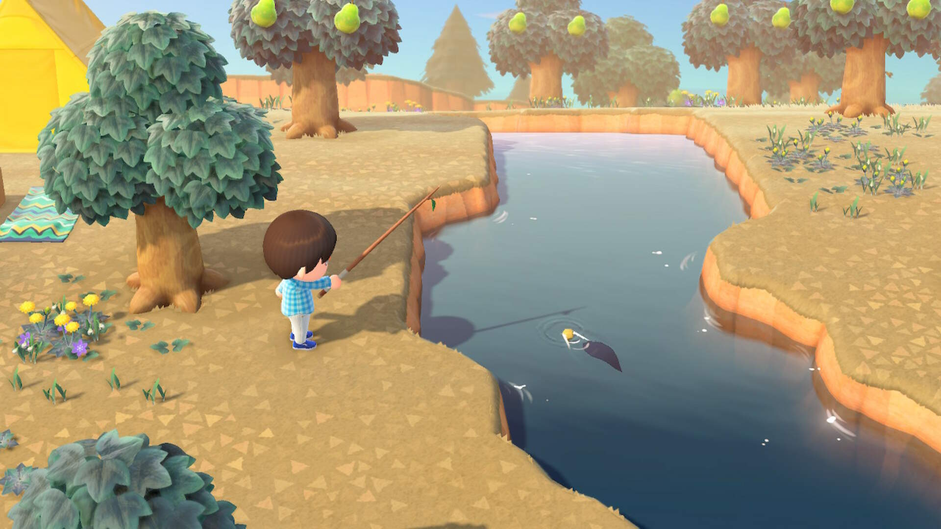 Animal Crossing New Horizons: How to Get a Fishing Rod and Catch Fish