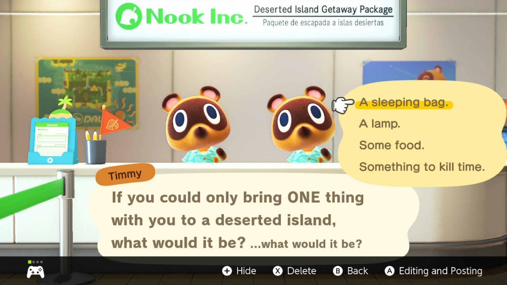 Desnudarse Príncipe cuenco  Animal Crossing New Horizons: 'If You Could Only Bring ONE Thing With You'  Question - What Does It Mean? | USgamer