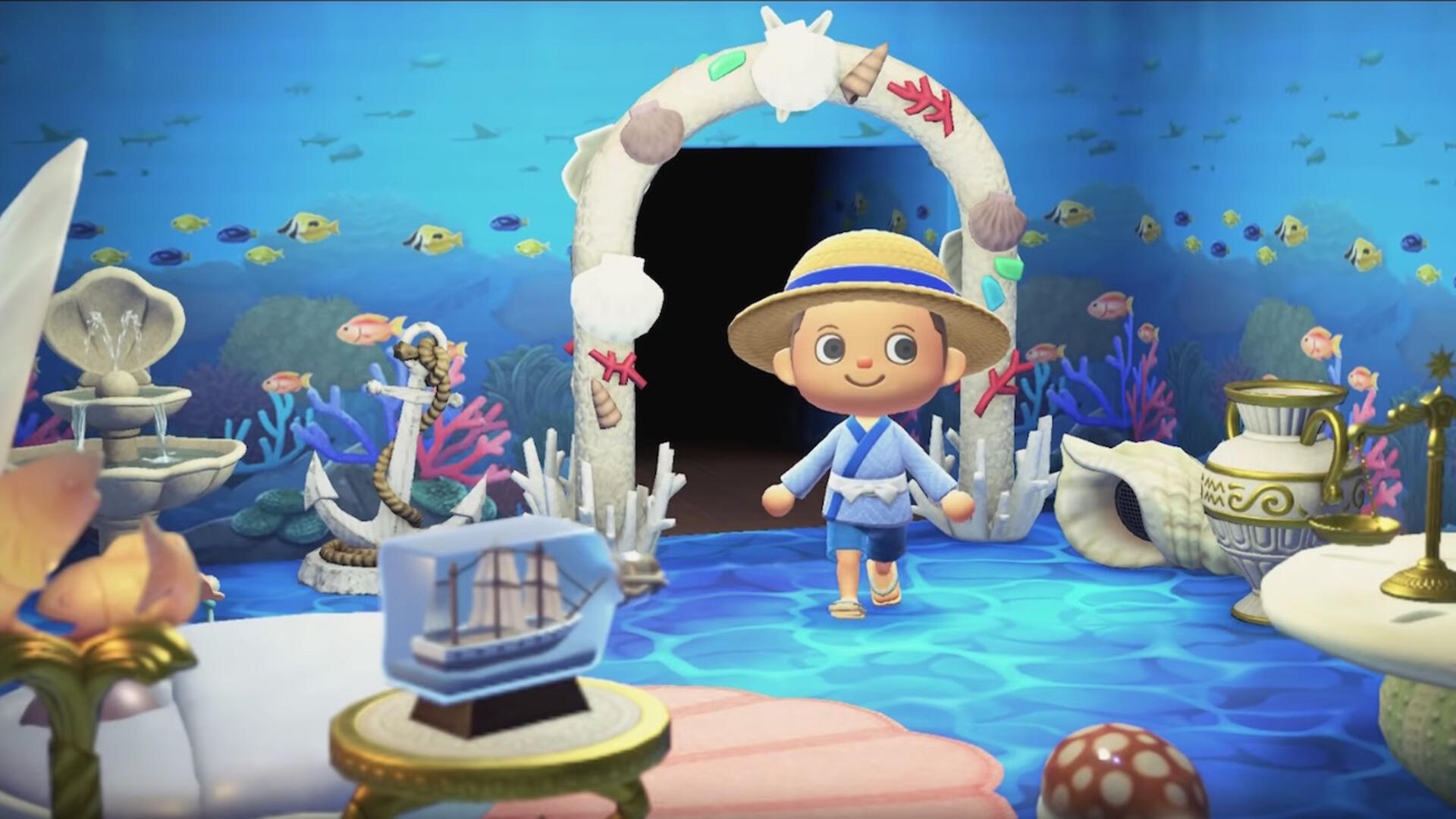 Animal Crossing New Horizons Appears To Let You Decorate Your House With Animated Wallpaper Usgamer