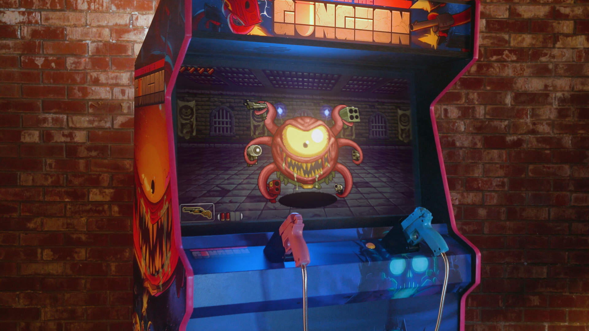 House of the Gundead Fits the Chaos of Enter the Gungeon in an Arcade Cabinet