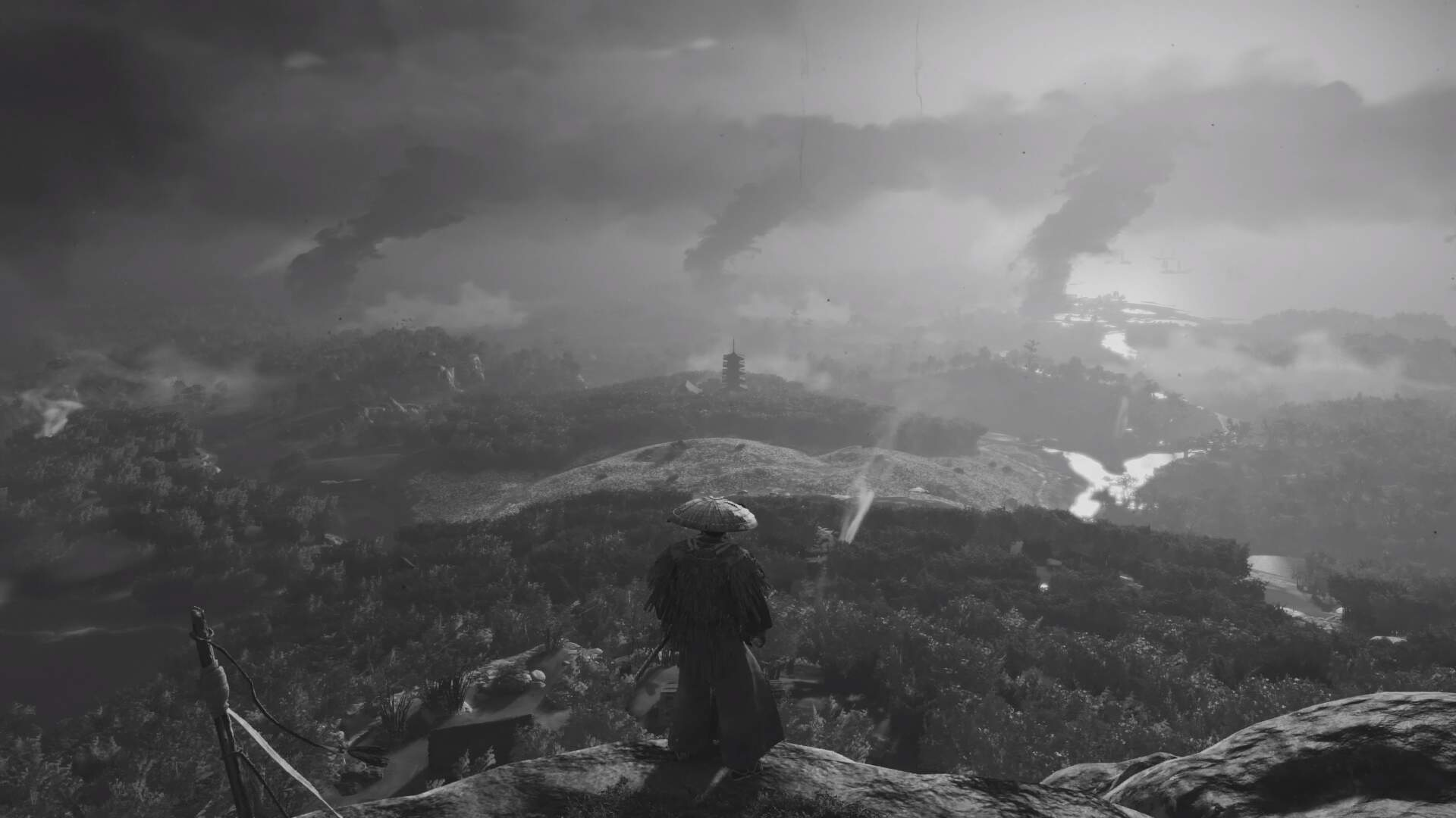 Ghost of Tsushima's Monochrome Filter Pays Homage to Classic Samurai Films