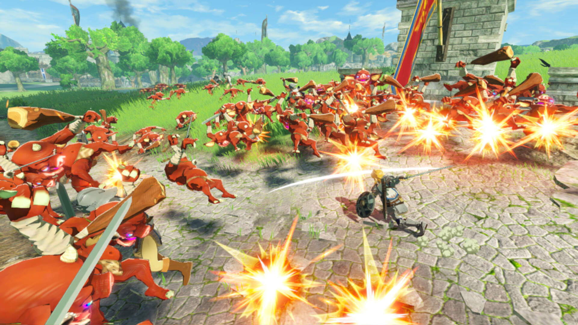 New Hyrule Warriors Age Of Calamity Footage Shows Off Runes Impa And More Usgamer