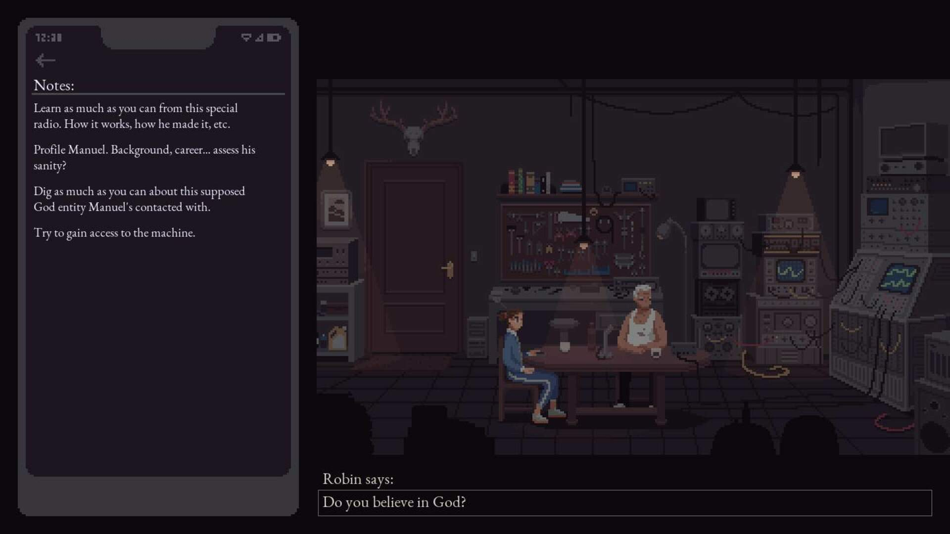 Interview with the Whisperer Is a Chatbot-Fueled Game About Talking to God