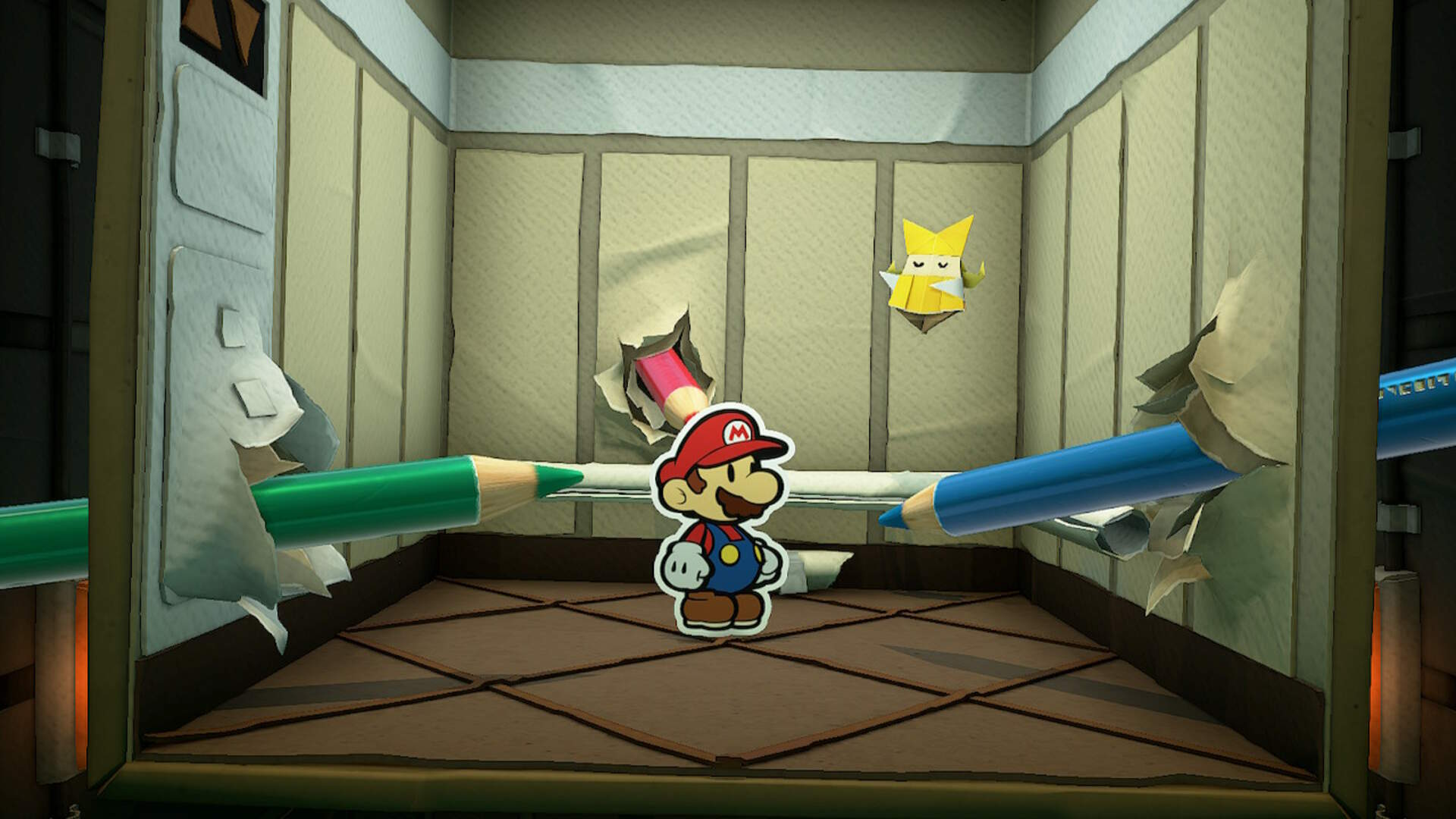 Paper Mario The Origami King: How to Beat the Colored Pencils Boss Fight