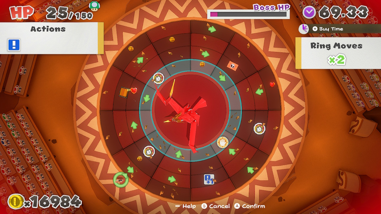 1617861475 394 70 Paper Mario The Origami King: How to beat Fire Vellumental Boss Fight