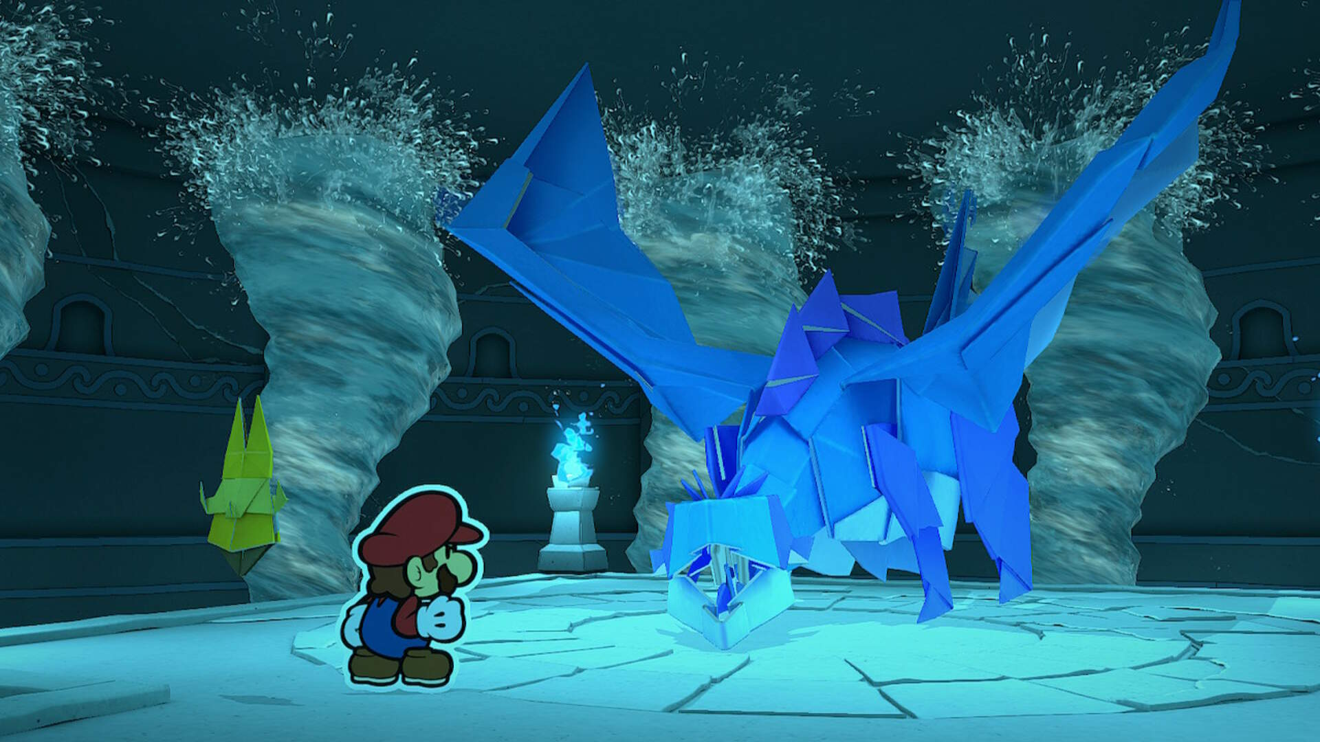 Paper Mario The Origami King: How to Beat the Water Vellumental Boss Fight
