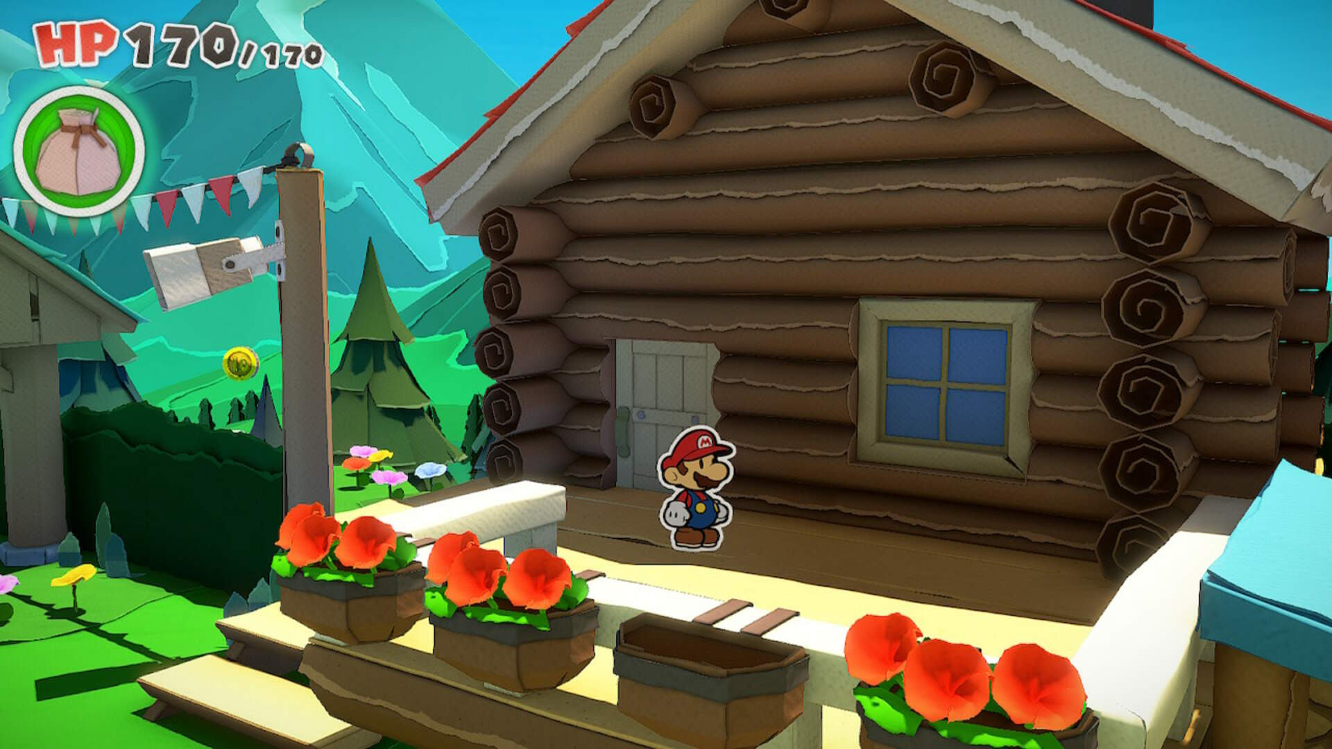 Paper Mario The Origami King: How to Get Into the Log Cabin in Whispering Woods
