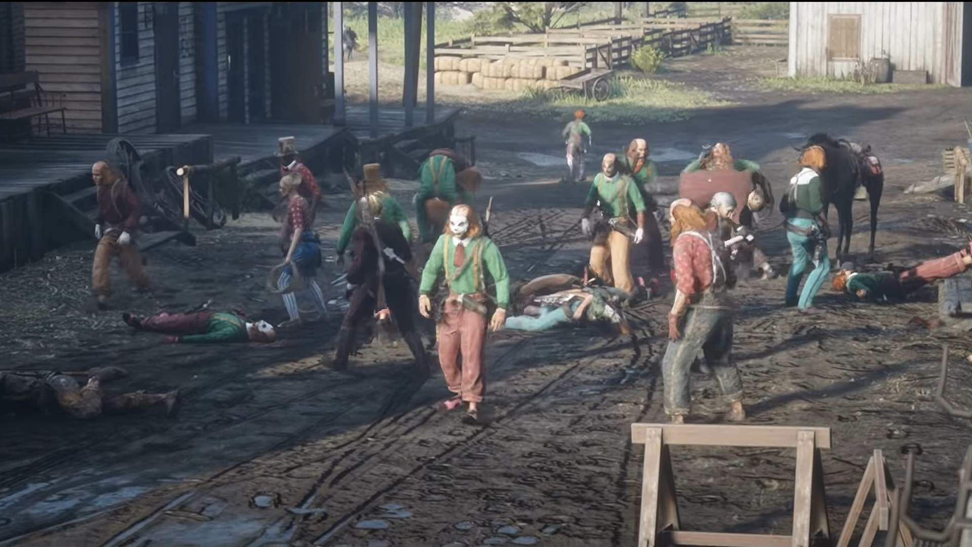 Red Dead Online Players Don Clown Costumes to Call Attention to Lack of Updates