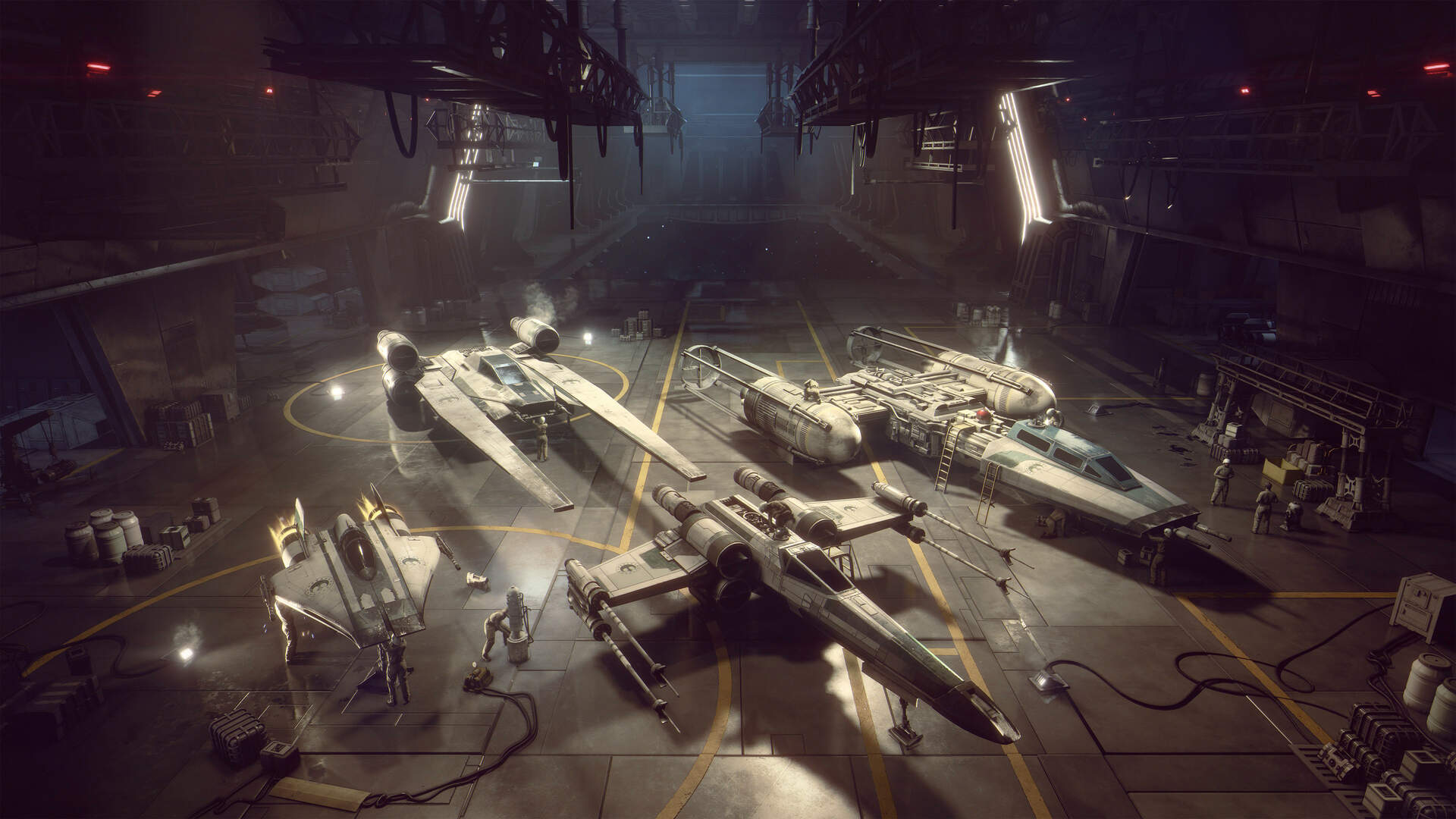 Star Wars Squadrons Brings Some Classic X Wing Vs Tie Fighter Ships Into Official Canon Usgamer