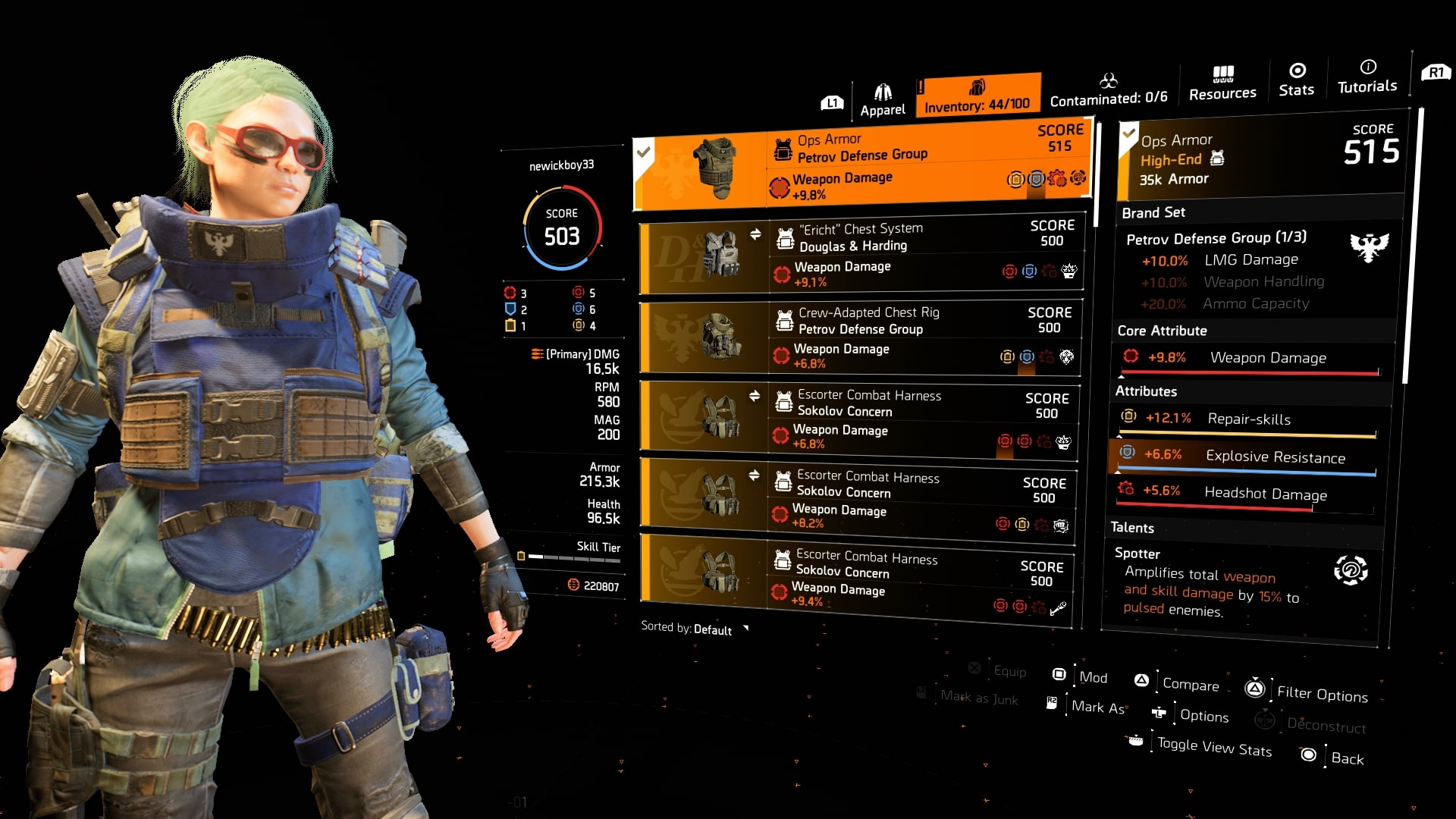 What Is The Max Gear Score In The Division 2 Warlords Of New York Usgamer