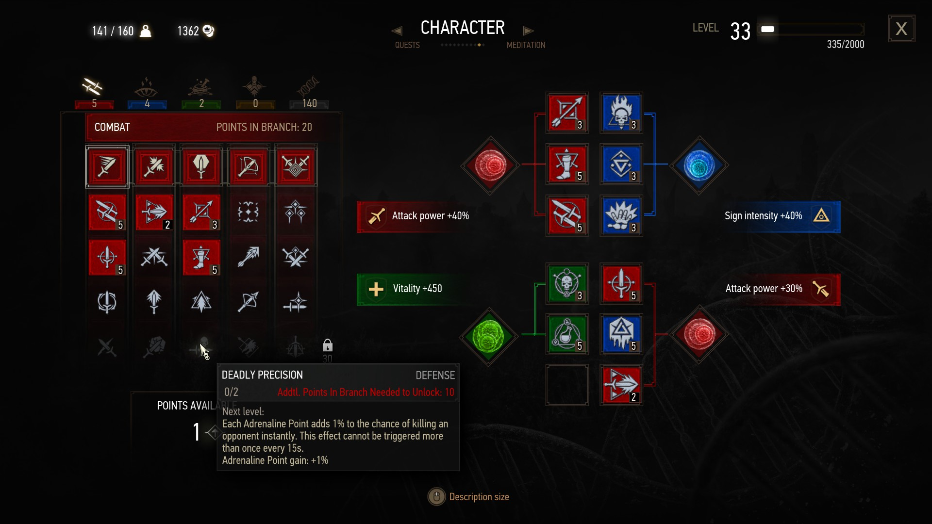 Witcher 3: Adrenaline Points and Special Attacks Explained