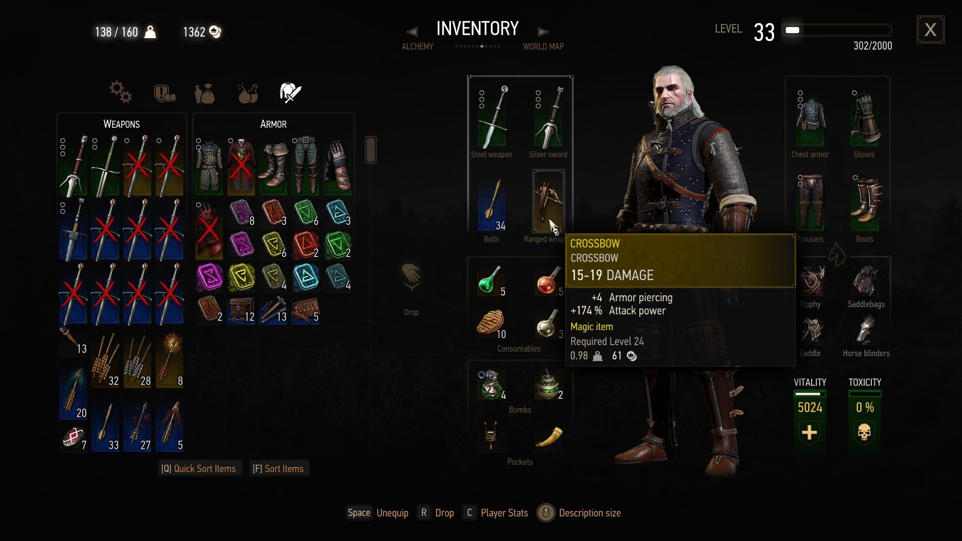 Witcher 3 How To Equip And Use The Crossbow Usgamer