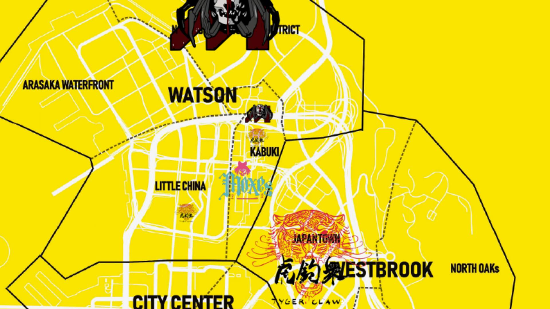 New Cyberpunk 2077 Map Shows Gang Turf Within Night City