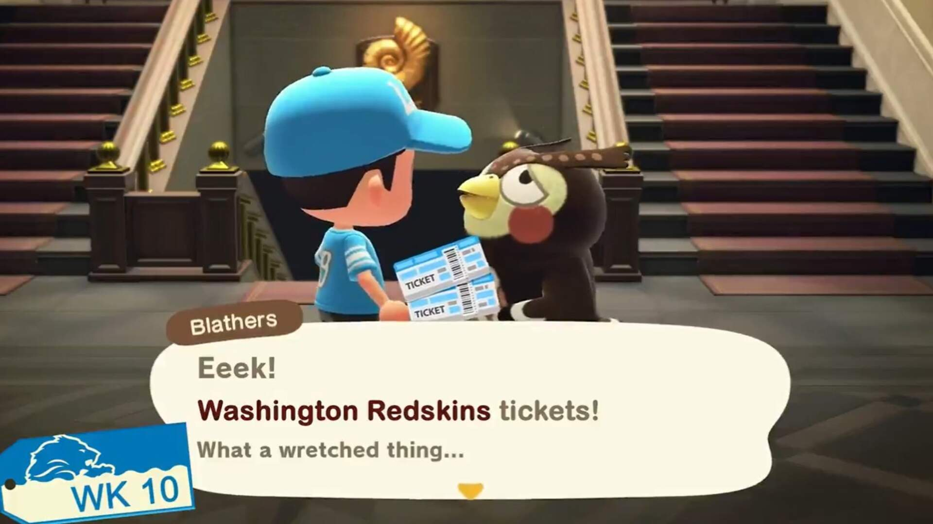 Even Blathers is Making Fun of the Washington NFL Team's Inability to Sell Tickets Now