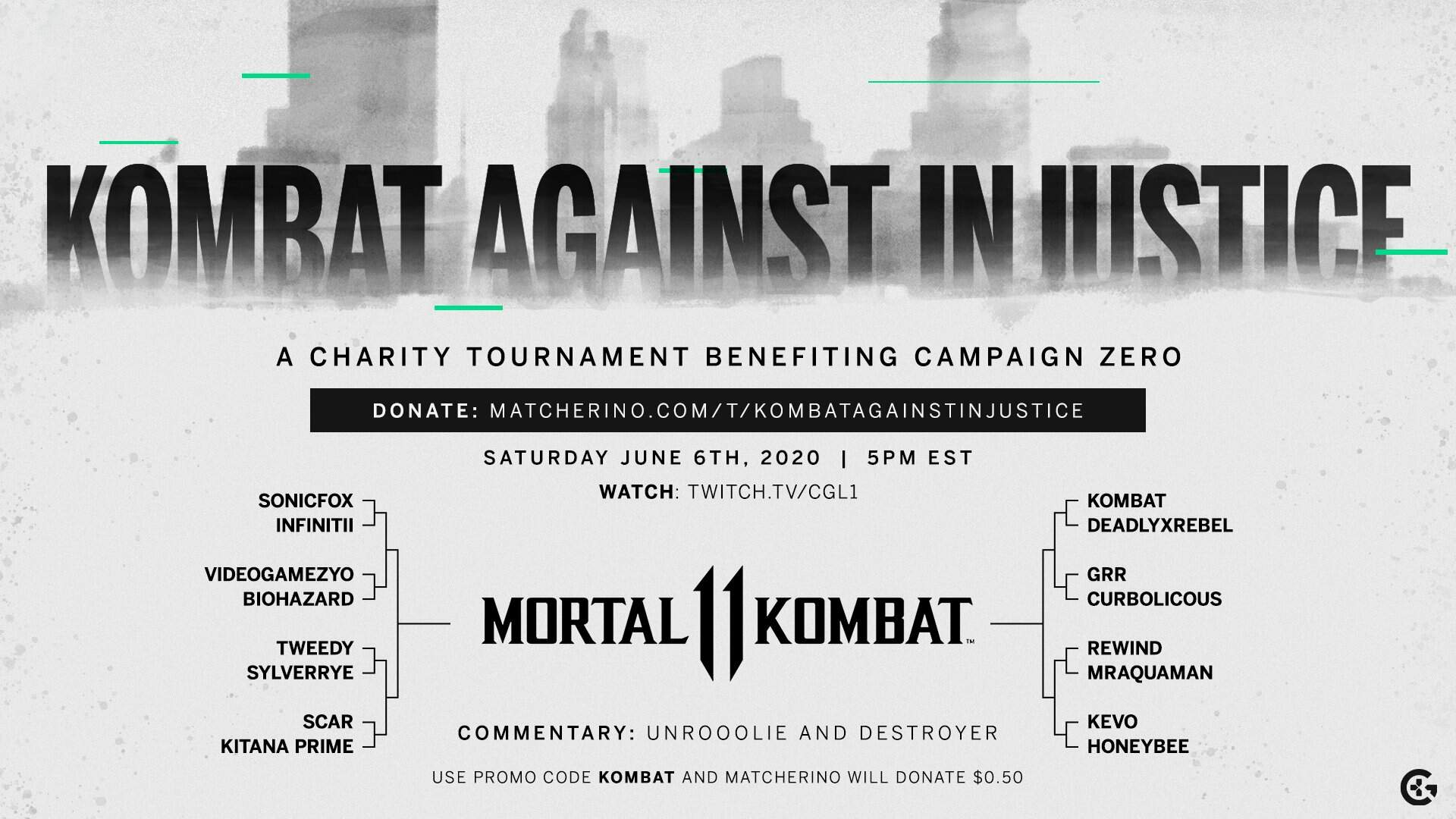 Mortal Kombat 11 Charity Tournament Will Kombat Against Injustice This Weekend