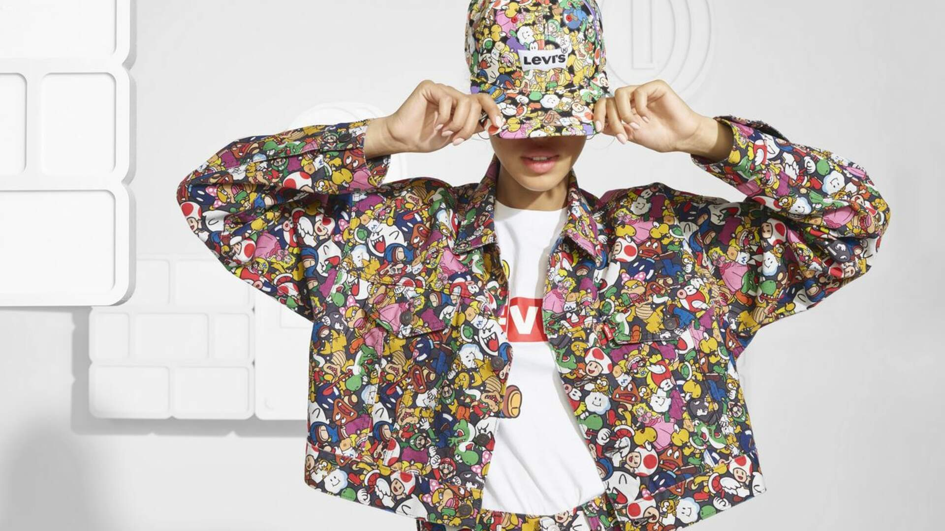 It Looks Like a Clown Threw up Trix Cereal on Levi's Super Mario Shirts and Jackets