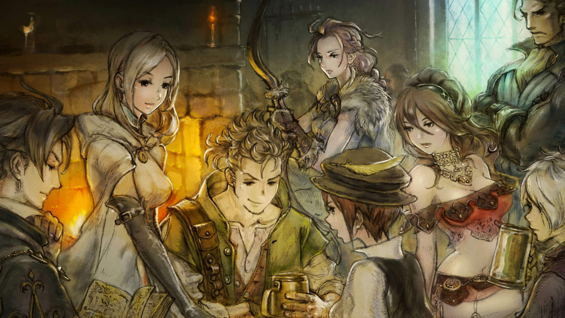Octopath Traveler Celebrates Two Million Sales Mark With Bravely Default Crossover Art