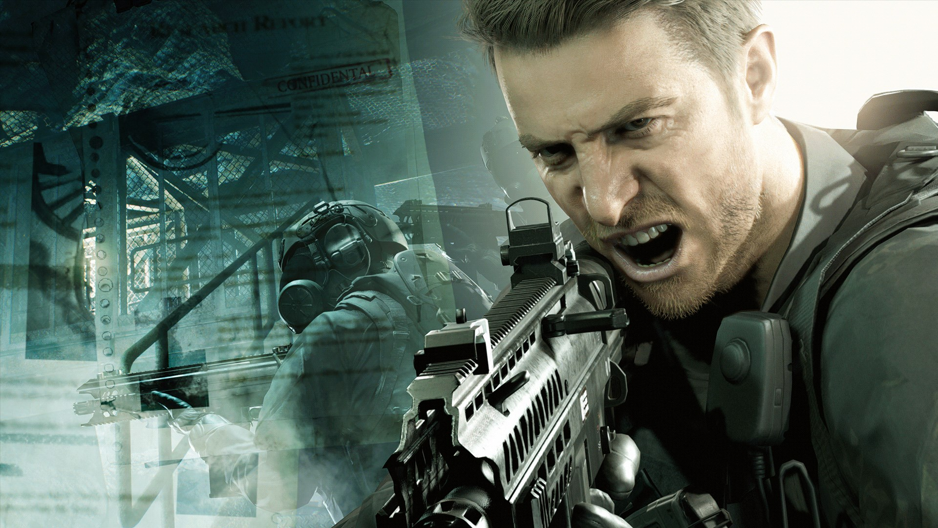 Resident Evil 7 Concept Art Shows A Blonde Chris Redfield And Cut