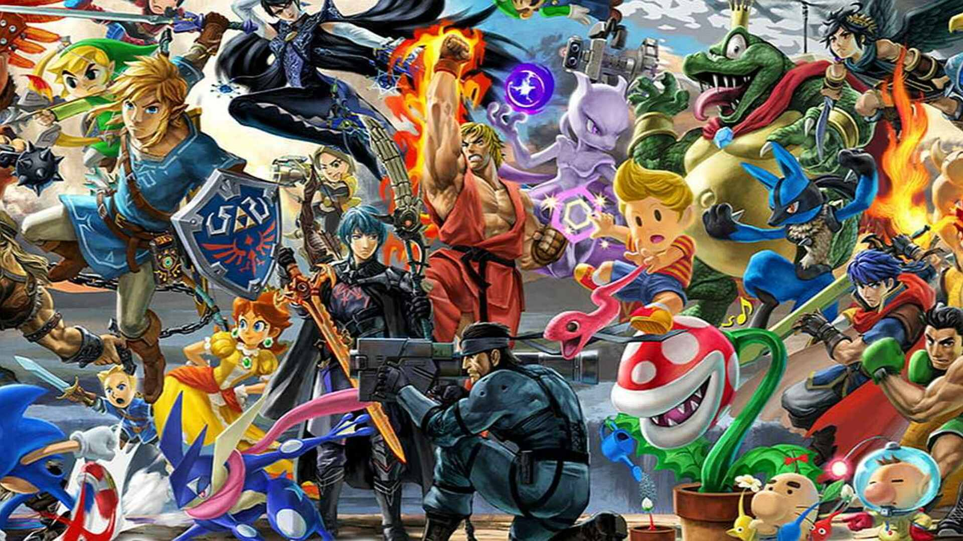 Super Smash Bros. Ultimate's Huge Mural Is a Cross Between Where's Waldo and That Creepy Photo From The Shining
