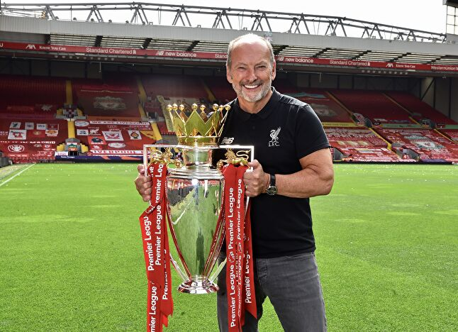 Peter Moore left games to spend three years running Liverpool FC, during which the team won this big shiny thing. Whatever it is