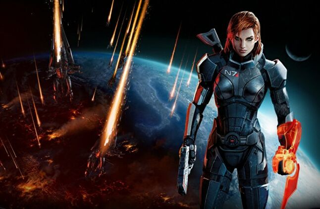 It wasn't until Mass Effect 3 that the woman Shepard was included in the marketing - and even then it was as a reversible box cover