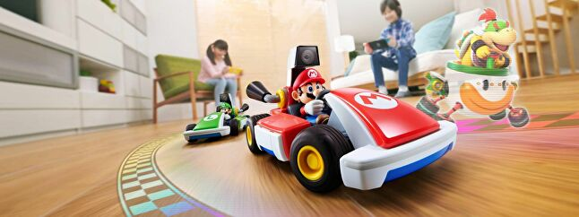 Mario Kart Live: Home Circuit lets the player control real-life RC cars on-screen